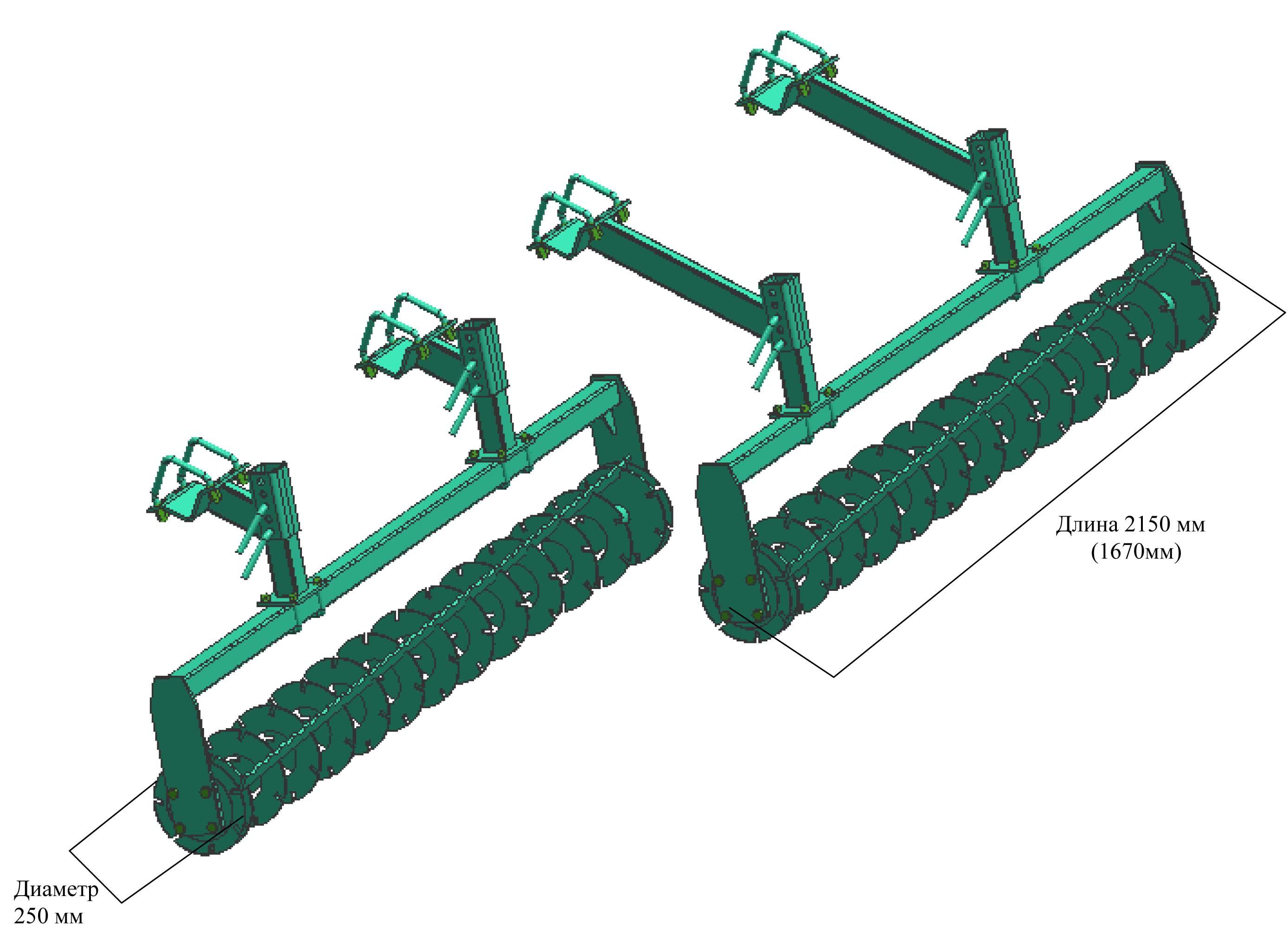 Схема культиватор для сплошной обработки